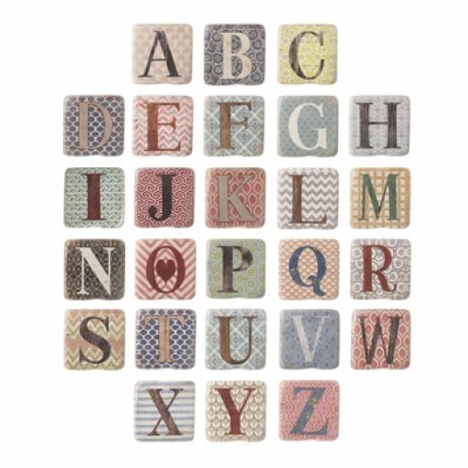 Ceramic Hand Made A-Z Alphabet Coasters