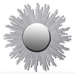 Silver Glass Starburst Wall Mirror