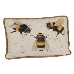 Triple Bee Design Large Cushion