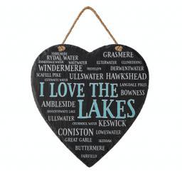 Slate I Love The Lake District Heart.