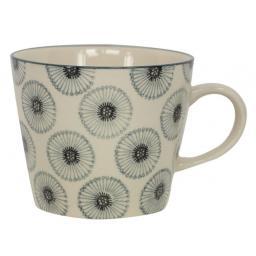 Monochrome Daisy Design Mug by Gisela Graham