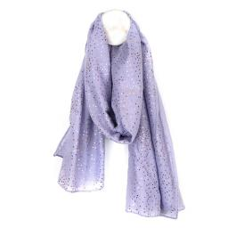 Peace Of Mind Lilac Scarf With Rose Gold Dotty Print