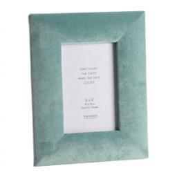 Faux Velvet Turquoise Photo Frame