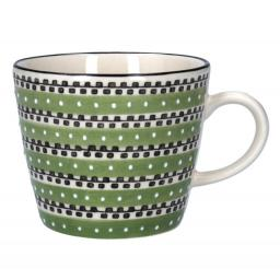 Green Track Design Mug by Gisela Graham