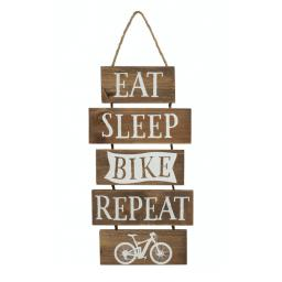 Slatted Wood Bike Sign