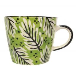 Green Fern Design Mug by Gisela Graham