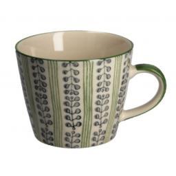 Green Stripes & Berries  Design Mug by Gisela Graham