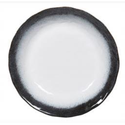 Large Navy Blue & White Detail Bowl