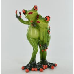Comical Frogs Selfie Couple