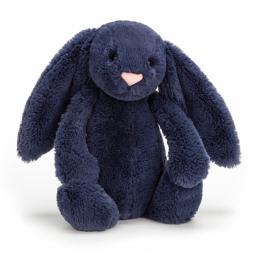 Small Bashful Navy Bunny by Jellycat