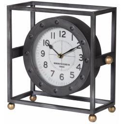 Metal Frame Mantel Clock