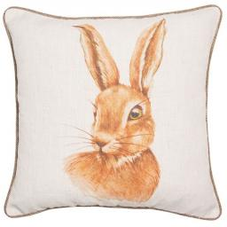 Hand Painted Hare Cushion