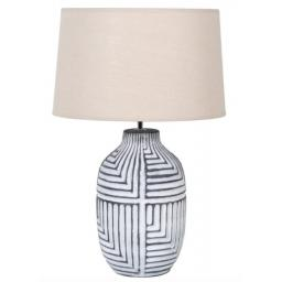 Abstract  Lamp & Linen Shade