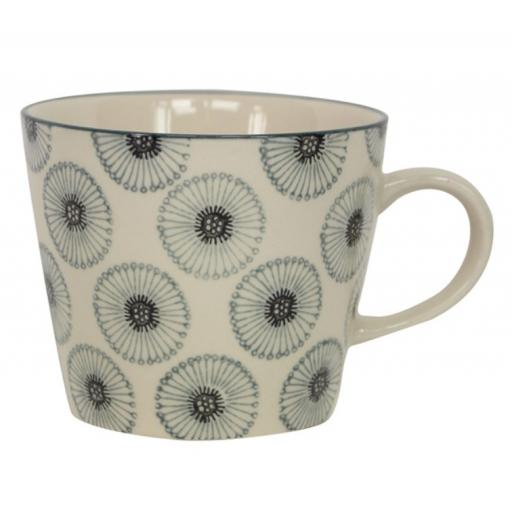 Monochrome Daisy Design Mug by Gisela Graham