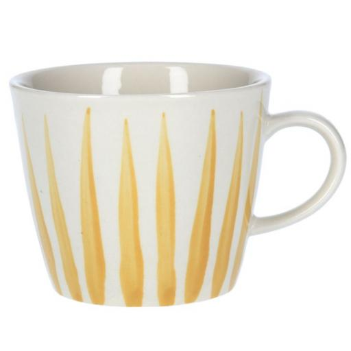 Mustard Flame Design Mug by Gisela Graham