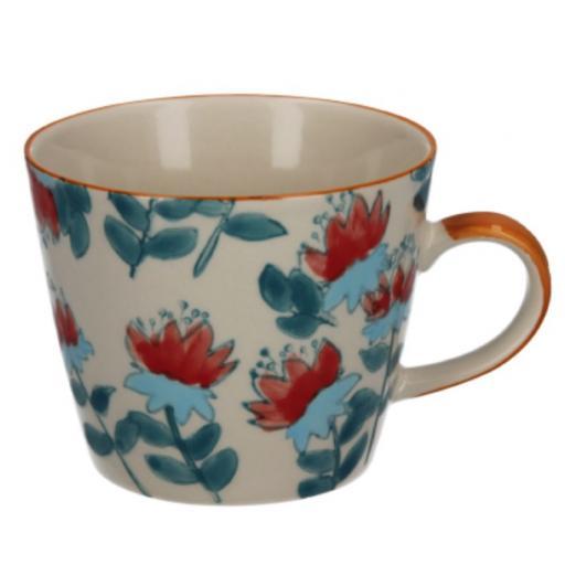 Hibiscus Design Mug by Gisela Graham
