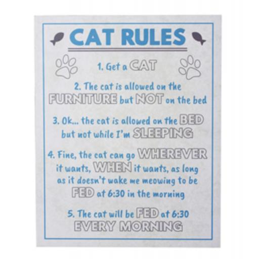 Cat Rules Sign