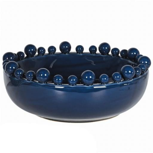 Large Blue Bobble Bowl