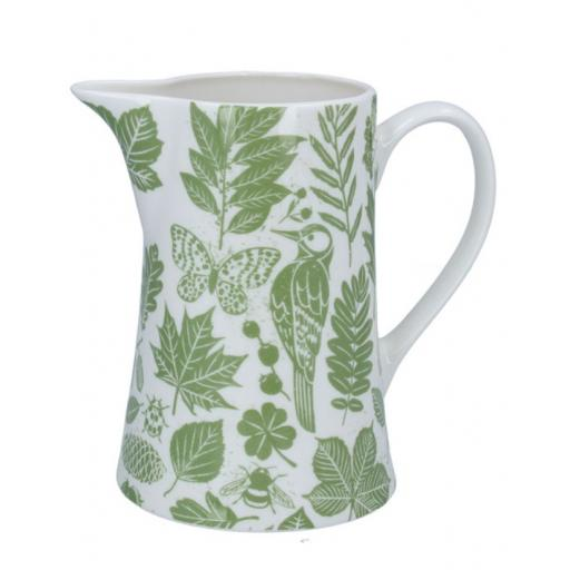 Green Garden Study Jug by Gisela Graham
