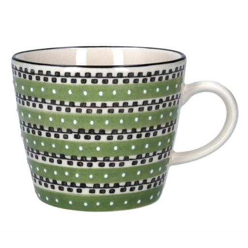 Green Track Design Mug by Gisela Graham