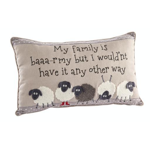 BAAA-RMY Family Sheep Design Cushion
