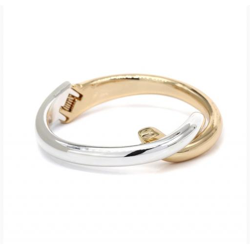 Peace of Mind Gold Plated & Silver Plated Double Curve Bangle/Bracelet