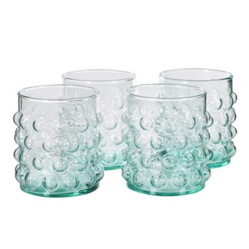 Green Glass Bubble Design Tumbler