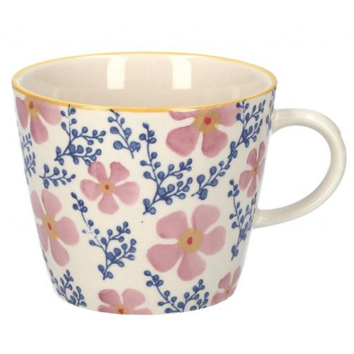 Pink Periwinkle Design Mug by Gisela Graham