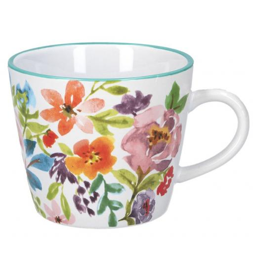 Bright Peonies Design Mug by Gisela Graham