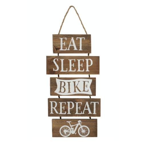 Slatted Wood Bike Sign