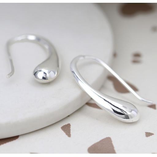 Peace Of Mind Sterling Silver Droplet Earrings