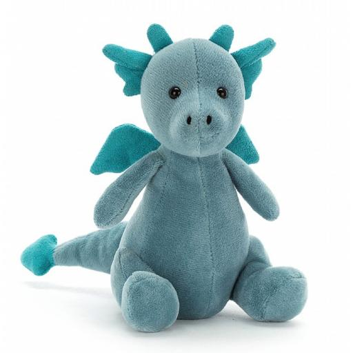 Little Puff Sapphire Dragon By Jellycat
