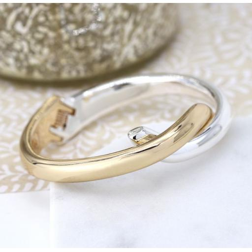 Peace of Mind Gold Plated & Silver Plated Double Curve Bracelet