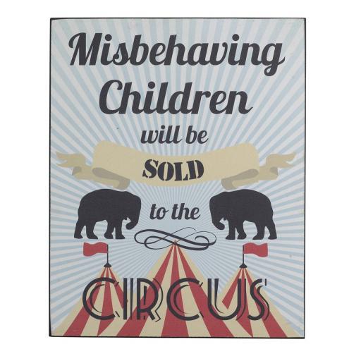 Misbehaving Children Fun Sign