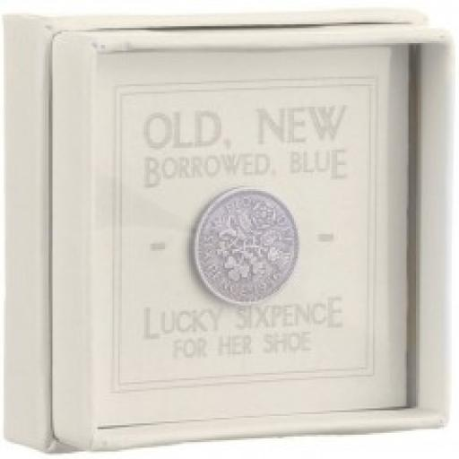 East Of India Boxed Sixpence Old New Borrowed Blue