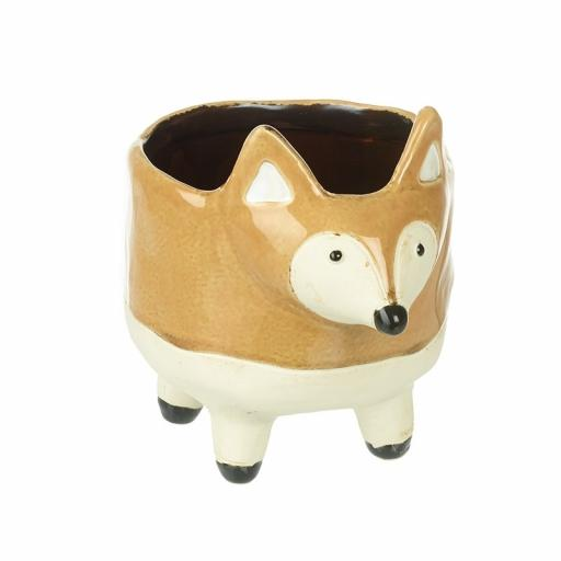 Ceramic Fox Planter