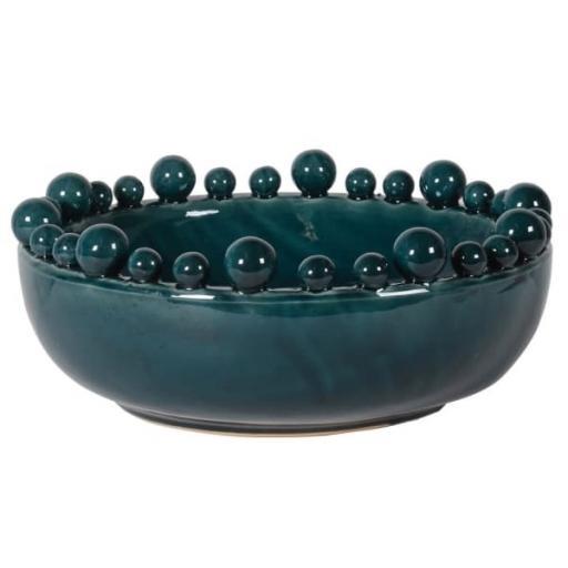 Large Teal Bobble Bowl