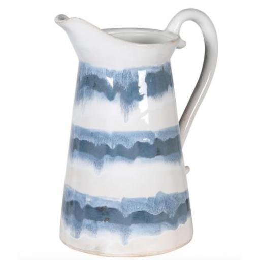Large Blue & White Ceramic Jug