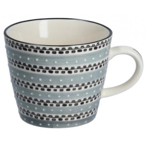 Grey Track Design Mug by Gisela Graham
