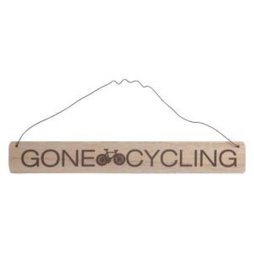 Gone Cycling Wooden Sign