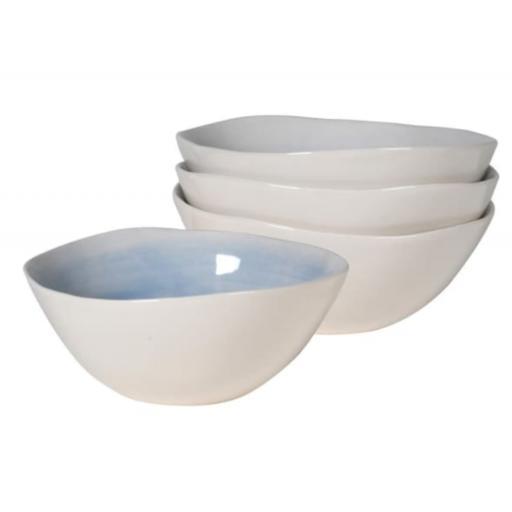 Mis-Shape Small Blue & White Bowl
