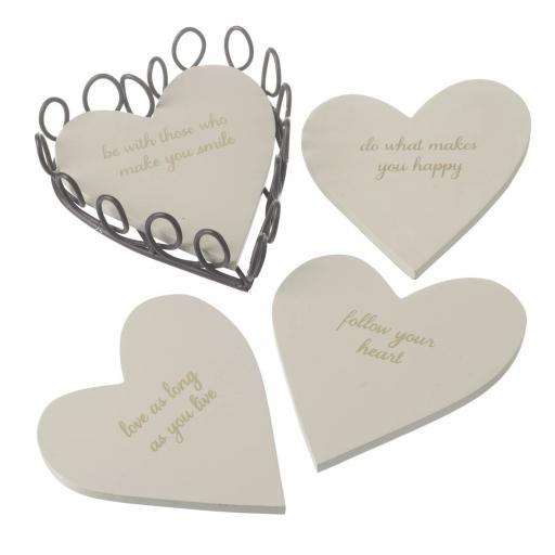 Follow Your Heart Set/4 Coasters