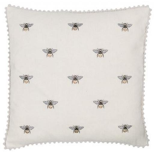 Beeze Bee Design Embroidered Cushion