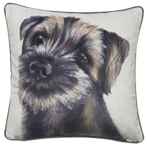 Andrah Border Terrier Printed Cushion