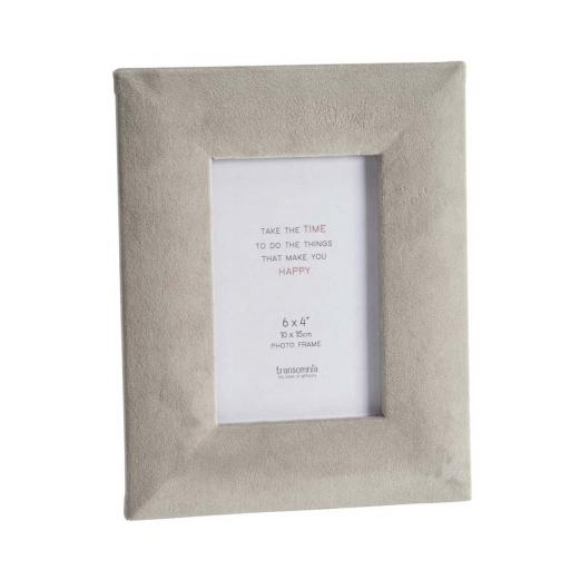 Faux Velvet Grey 6X4 Photo Frame