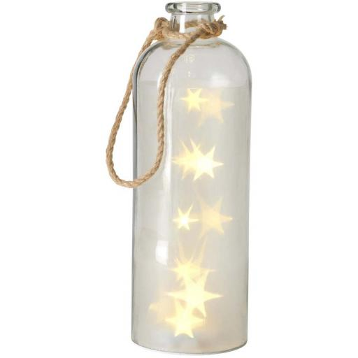 Giant LED Star Lights In A Clear Bottle