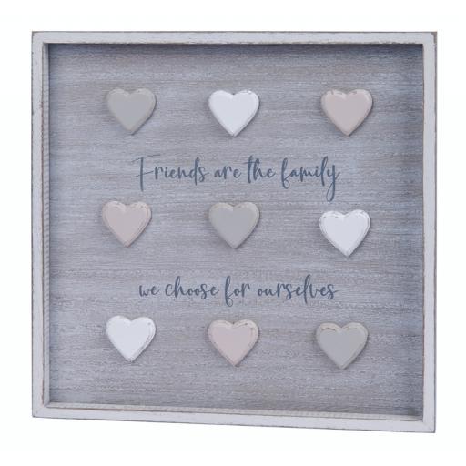 Friends 3D Heart Wall Hanging Plaque