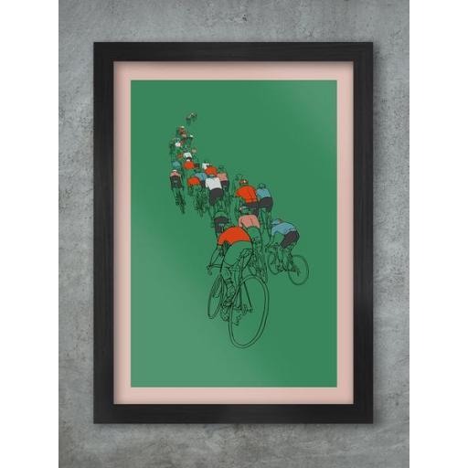 The Peloton A3 Framed Print
