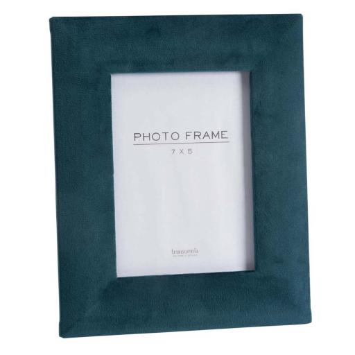 Faux Velvet Teal Photo Frame 7 x 5