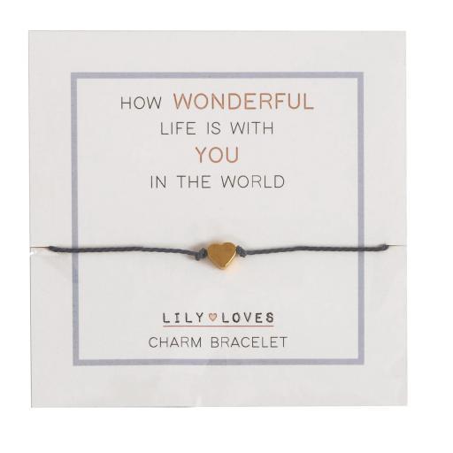 Lily Loves Friendship/Love Heart Charm Bracelet